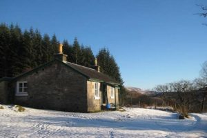 Remote Rustic Highland Cottage Log Fire